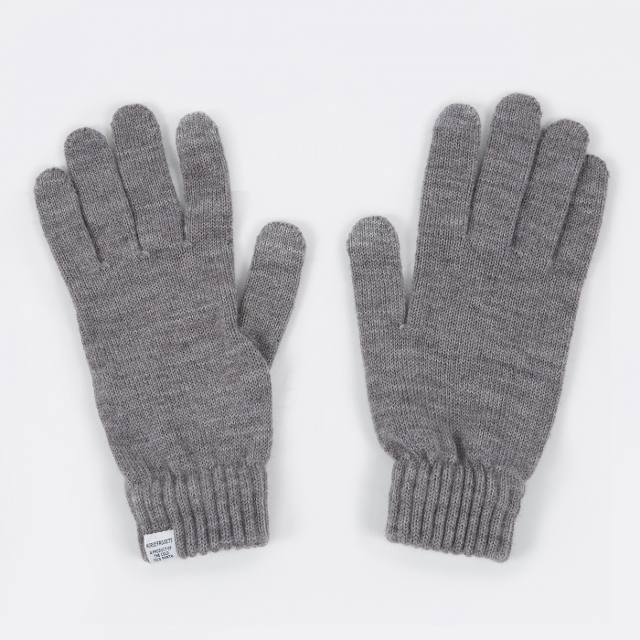 Norse Projects Norse Gloves - Light Grey Melange (Image 1)