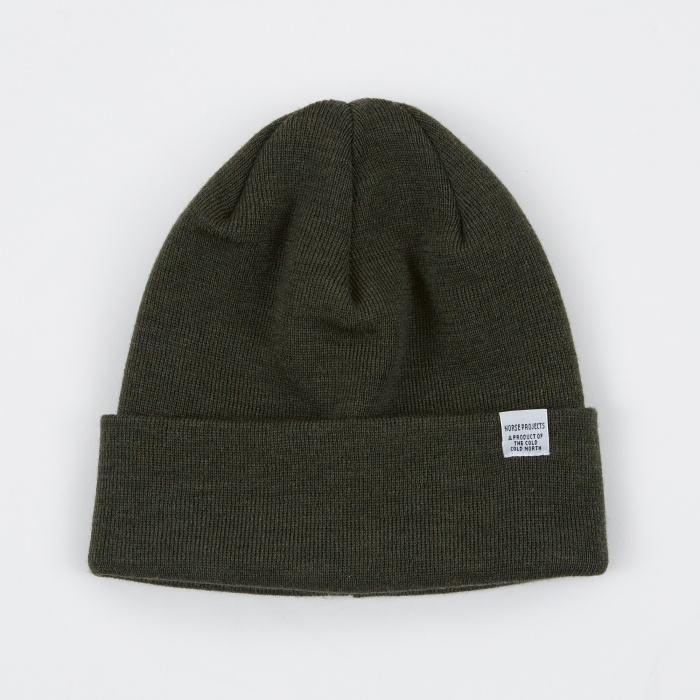 Norse Projects Norse Top Beanie - Lichen (Image 1)