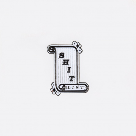 Shit List Pin - Black/White