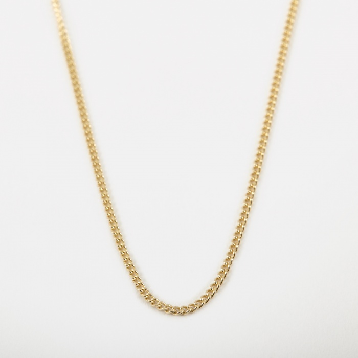 Goods By Goodhood 14 Filed Curb Chain - 9k Yellow Gold (Image 1)