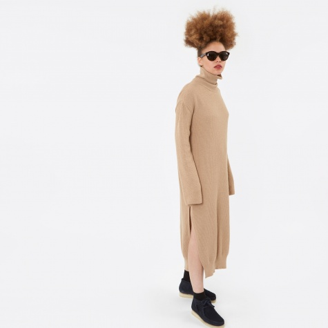 Lotta Knit Dress - Camel Beta