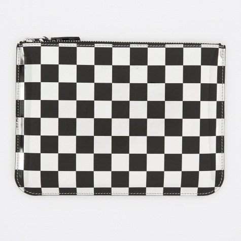 Comme des Garcons Wallet Optical Group (SA5100GA) - Check/Silver