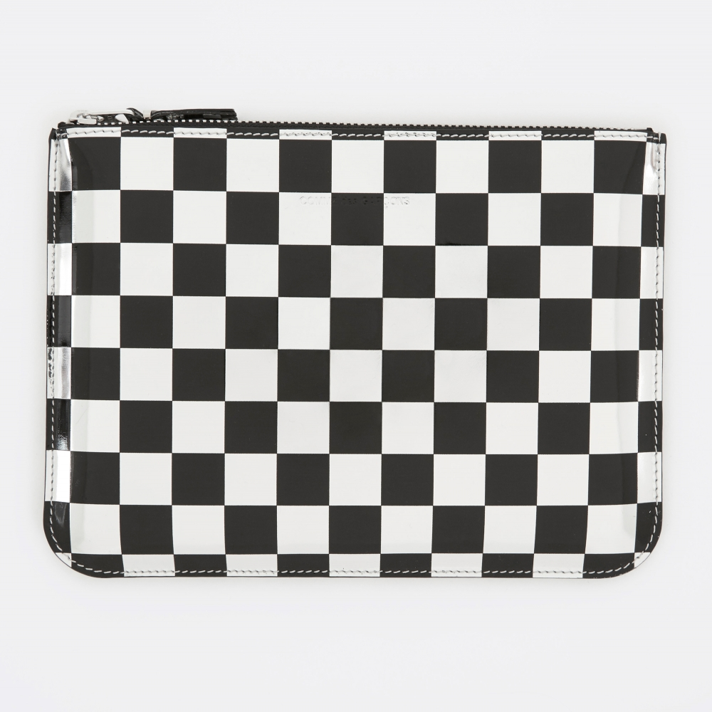 Optical large zip around wallet Comme Des Gar?ons ilgfIg