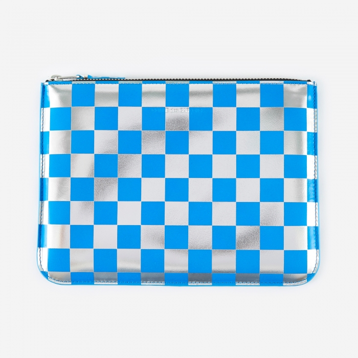 Comme des Garcons Wallets Optical Group (SA5100GB) - Check/Blue (Image 1)
