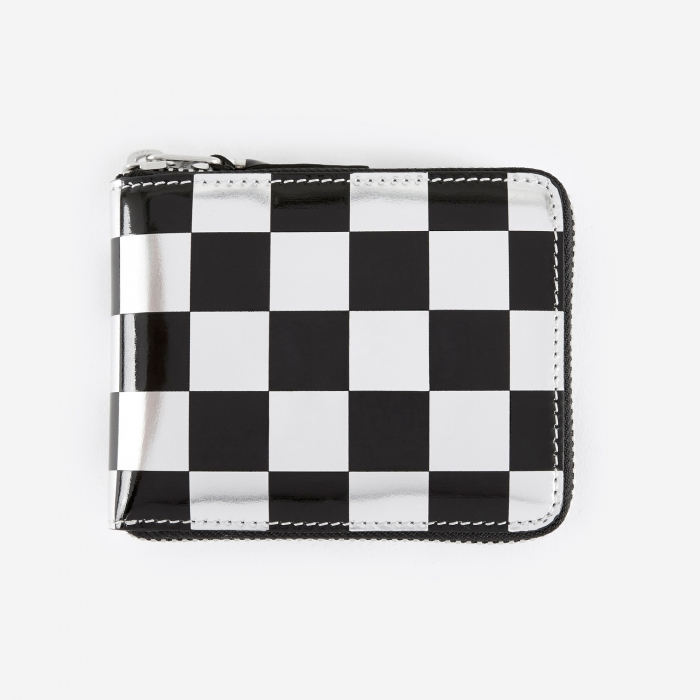 Comme des Garcons Wallets Comme des Garcons Wallet Optical Group (SA7100GA) - Check/Silver (Image 1)