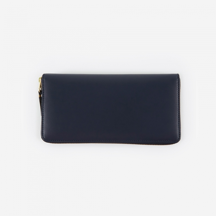 Comme des Garcons Wallets Classic Leather (SA0110) - Navy (Image 1)