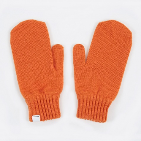Ebba Lambswool Gloves - Pure Umber