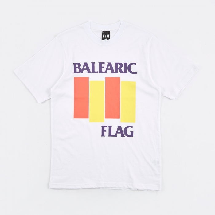 Perks & Mini PAM Perks & Mini Balearic Flag S/S T-Shirt - White (Image 1)