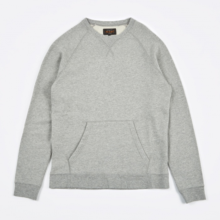 Beams Plus Crew Sweatshirt - Grey (Image 1)