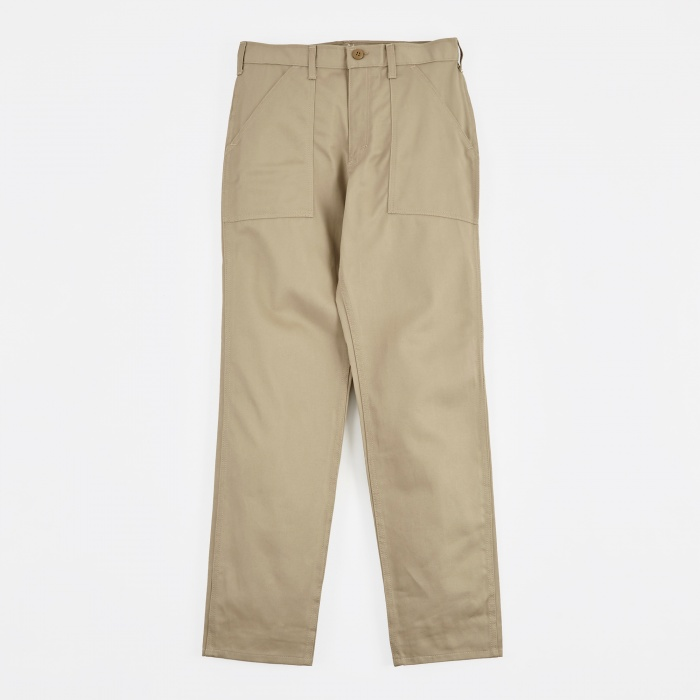 Stan Ray Taper Fit 4 Pocket Fatigue Trousers 8.5oz - Khaki (Image 1)