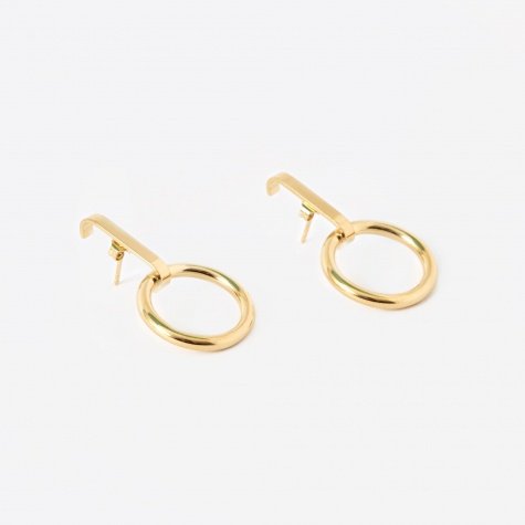 TRAIL Loop Earrings (Pair) - 18K Gold Plated