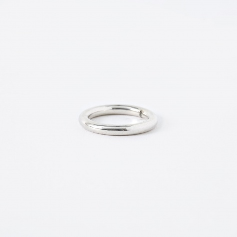 FACET Round Ring - Sterling Silver