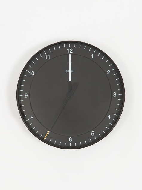 30cm Large Wall Clock - Black
