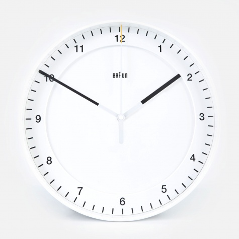 30cm Large Wall Clock - White