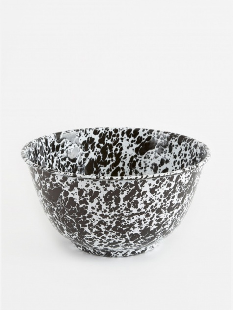 Large Salad Bowl - Black Marble
