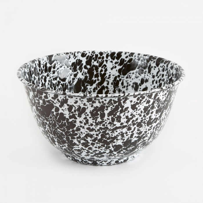 Crow Canyon Home Large Salad Bowl - Black Marble (Image 1)