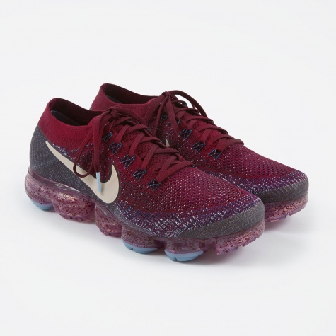 NikeLab Air Vapormax Flyknit Shoe - Bordeaux/Desert Sand-Co