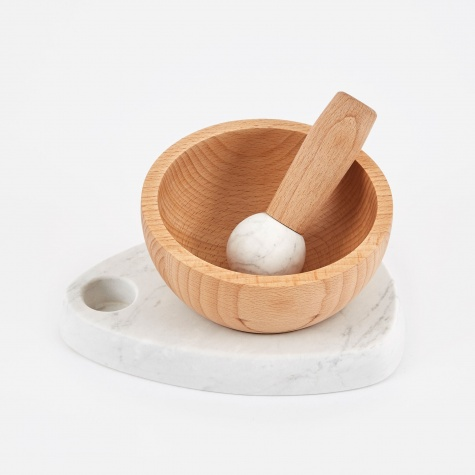 Crux Mortar and Pestle - Natural