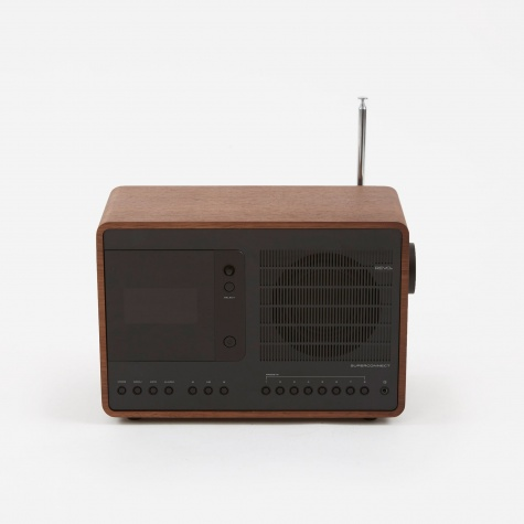 SuperConnect WiFi/DAB/DAB+/FM Radio - Walnut & Black