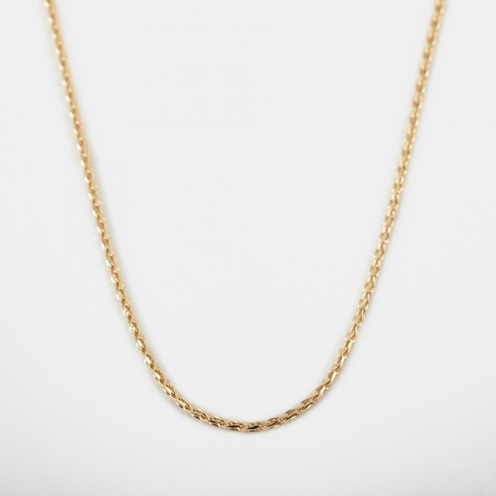 Goods By Goodhood Filed Round Spiga Chain - 9k Yellow Gold (Image 1)