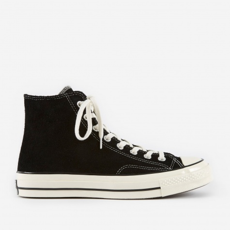 1970s Chuck Taylor All Star Hi Suede - Black/Egret