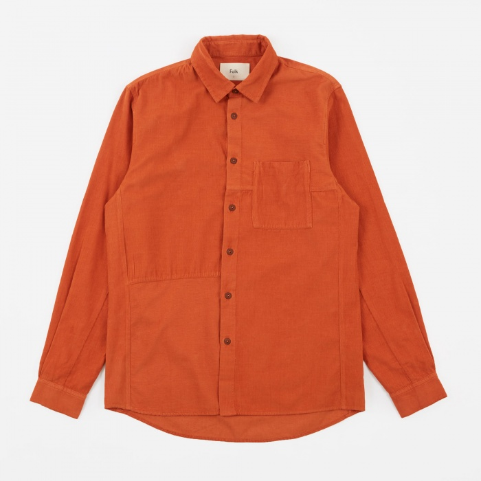 Folk Fragment Shirt - Burnt Orange (Image 1)