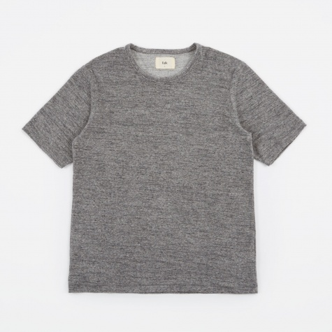 Mid Weight T-Shirt - Charcoal Stripe