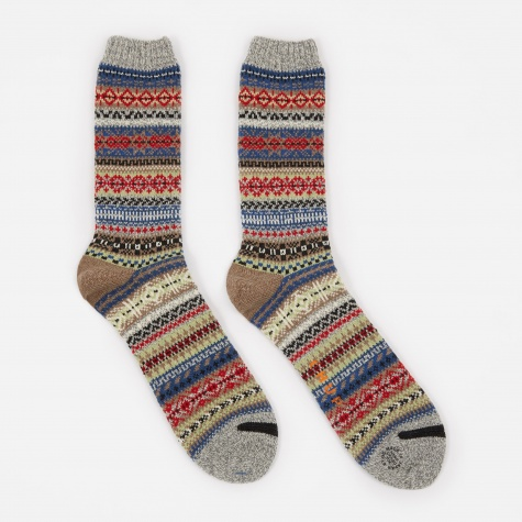 Northern Lights Socks - Gray