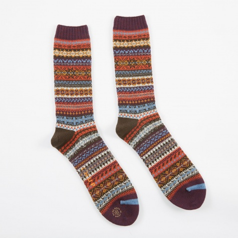 Northern Lights Socks - Purple