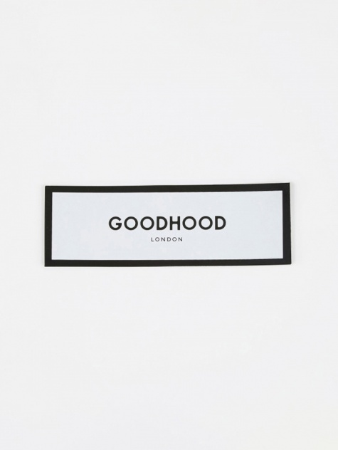 Luxury Logo Sticker - White