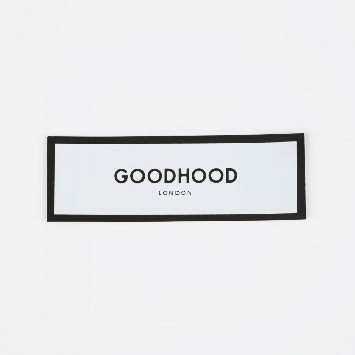 Goods By Goodhood Luxury Logo Sticker - White (Image 1)