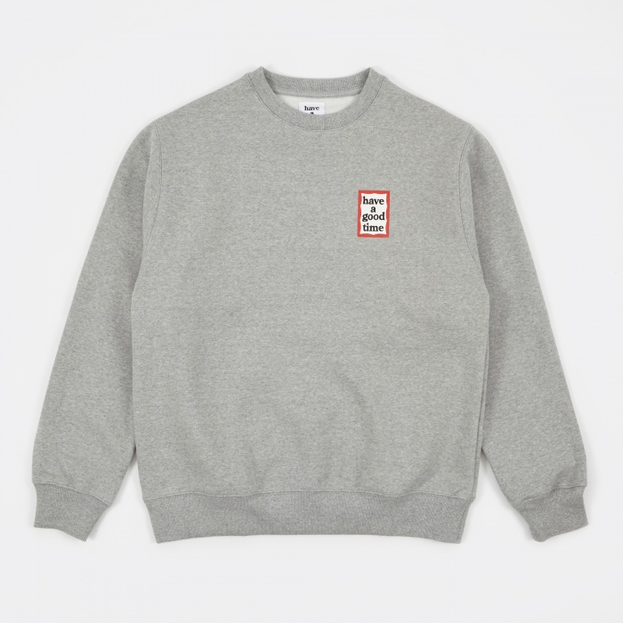 Have A Good Time Mini Frame Sweatshirt - Heather Grey (Image 1)
