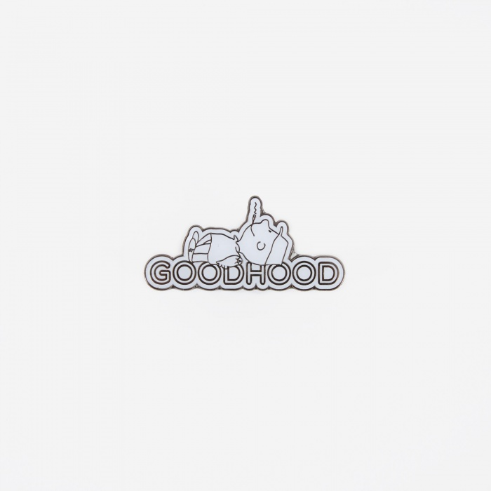 Goods By Goodhood Human Being Pin Badge - White (Image 1)