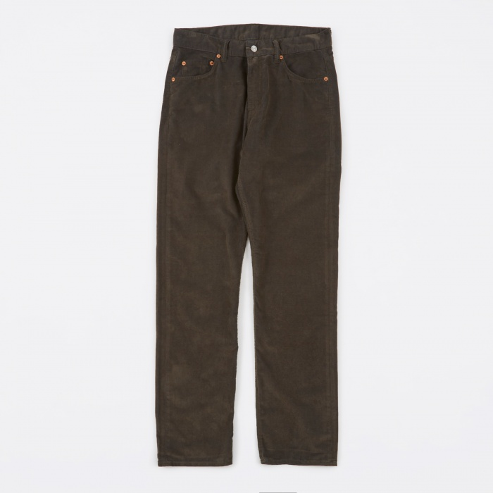 Our Legacy Second Cut Pants - Sludge Olive Corduroy (Image 1)