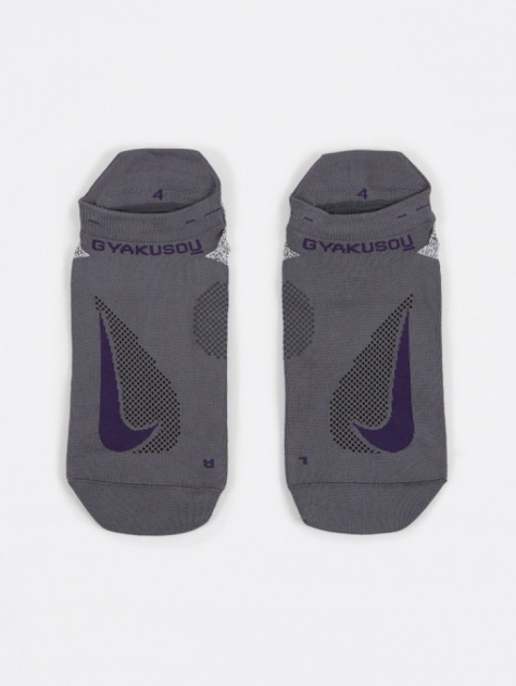 No-Show Running Socks - Dark Grey/Ink