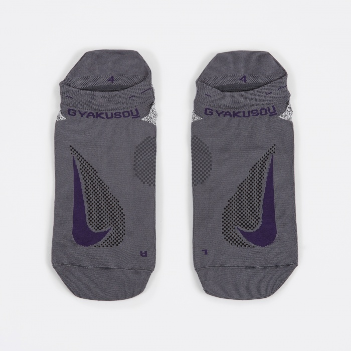 Nike x Undercover Gyakusou No-Show Running Socks - Dark Grey/Ink (Image 1)