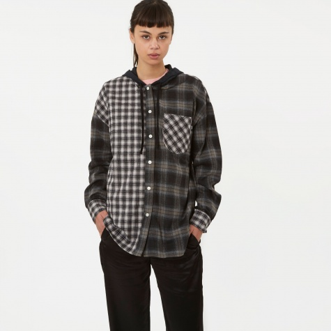 Cashed Hooded Flannel Sweater - Multi