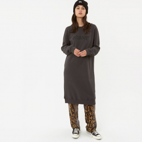 Archers Fleece Dress - Black