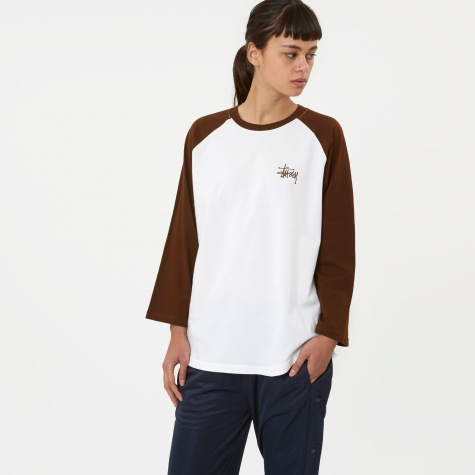 Basic Stussy Raglan - White/Chocolate