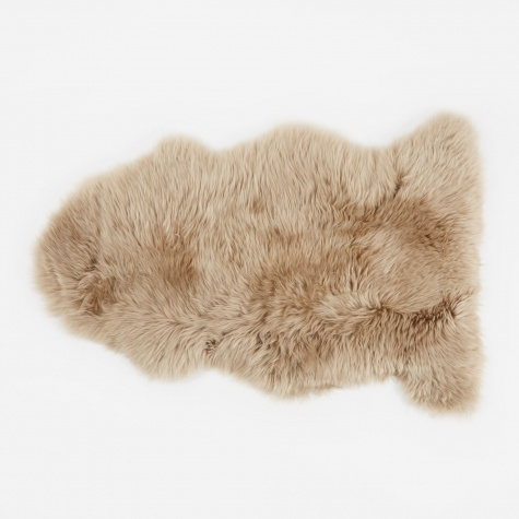 Long Wool Sheepskin Rug - Taupe