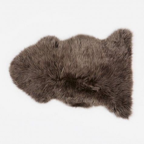 Long Wool Sheepskin Rug - Walnut