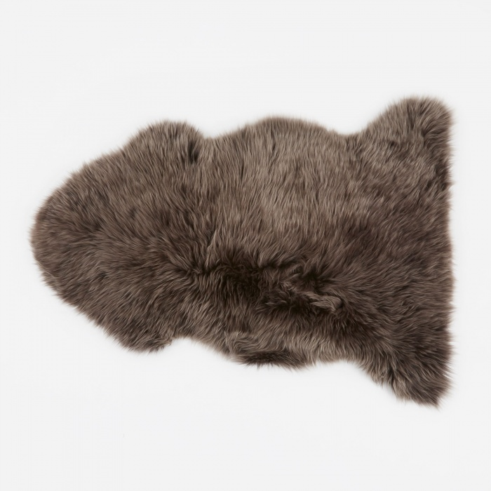 Natures Collection Long Wool Sheepskin Rug - Walnut (Image 1)