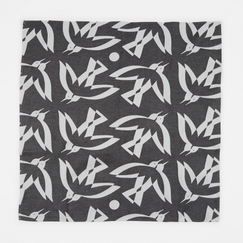 Tea Towel Double Bird - Grey