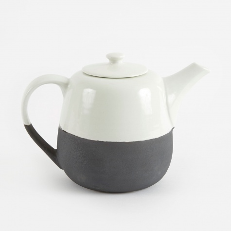Teapot 'Esrum' Stoneware - Ivory/Brown