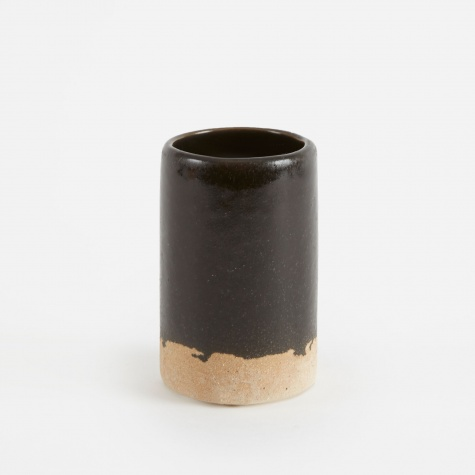 Ceramic Vase 'Slim' Small - Black