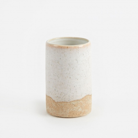 Ceramic Vase 'Slim' Small - Drizzle