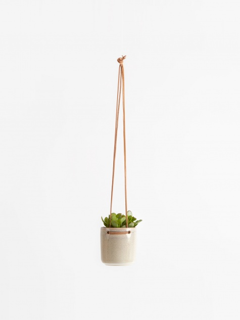 Hanging Flowerpot 'Almas' Small - Simply Taupe