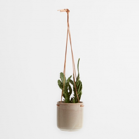 Hanging Flowerpot 'Almas' Medium - Simply Taupe