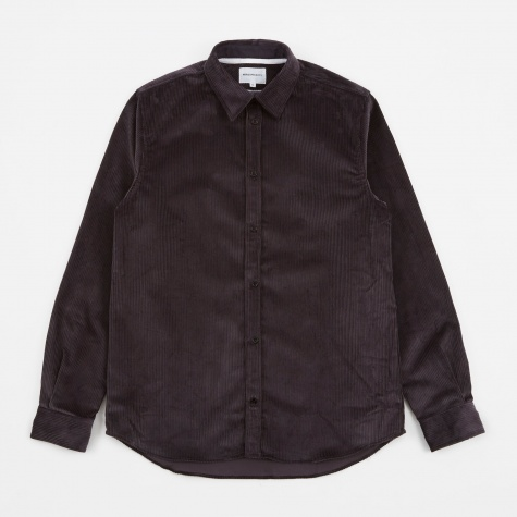 Hans Cord Shirt - Mouse Grey