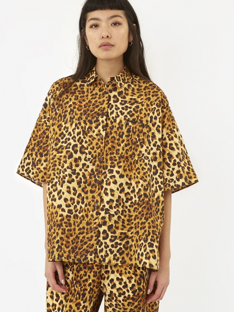 x Goodhood Oversized Shirt - Leopard Print